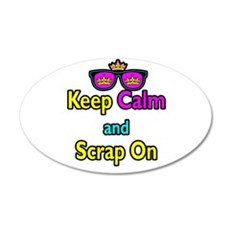 Crown Sunglasses Keep Calm And Scrap On Wall Decal