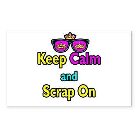 Crown Sunglasses Keep Calm And Scrap On Sticker (R