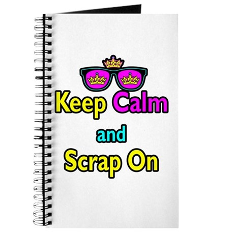 Crown Sunglasses Keep Calm And Scrap On Journal