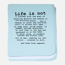 Life Is Not Dirt Bike Motocross Shirt baby blanket