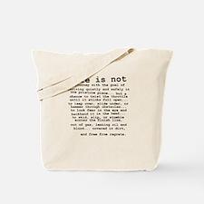 Life Is Not Dirt Bike Motocross Shirt Tote Bag