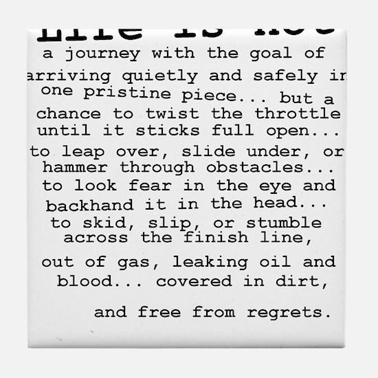 Life Is Not Dirt Bike Motocross Shirt Tile Coaster