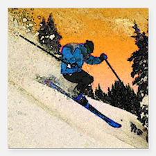 "skier1 Square Car Magnet 3"" x 3"""