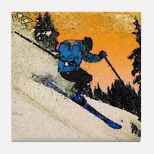 skier1 Tile Coaster