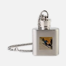 skier1 Flask Necklace