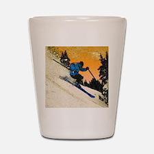 skier1 Shot Glass