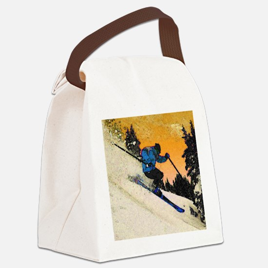 skier1 Canvas Lunch Bag