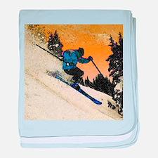 skier1 baby blanket