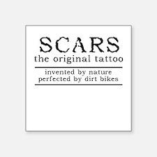 Scars Original Tattoo Dirt Bike Motocross Funny St