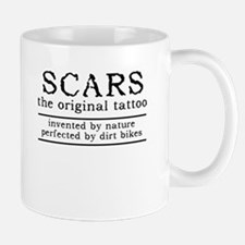 Scars Original Tattoo Dirt Bike Motocross Funny Mu