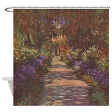 Monet Garden Path Shower Curtain
