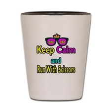Crown Sunglasses Keep Calm And Run WIth Scissors S