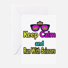 Crown Sunglasses Keep Calm And Run WIth Scissors G