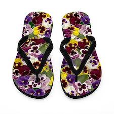 Lovely Pansies Flip Flops