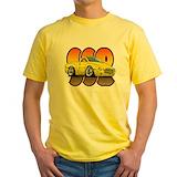 Retro sports Mens Yellow T-shirts