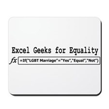 Excel Geeks for Equality Mousepad