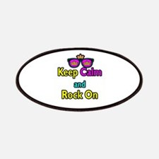 Crown Sunglasses Keep Calm And Rock On Patches