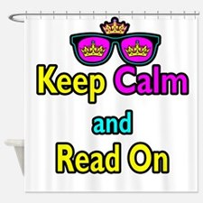 Crown Sunglasses Keep Calm And Read On Shower Curt