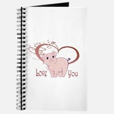Love You, Cute Piggy Art Journal