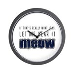 Hear It Meow Wall Clock
