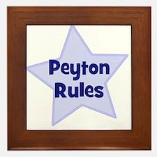 Peyton Rules Framed Tile