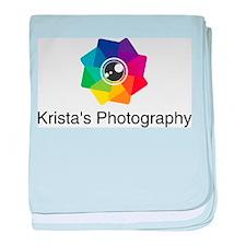 Kristas Photography logo baby blanket