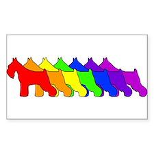 Rainbow Schnauzer Oval Decal