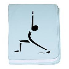 Yoga Warrior Pose baby blanket