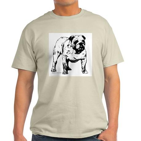 Black & White Bulldog Ash Grey T-Shirt