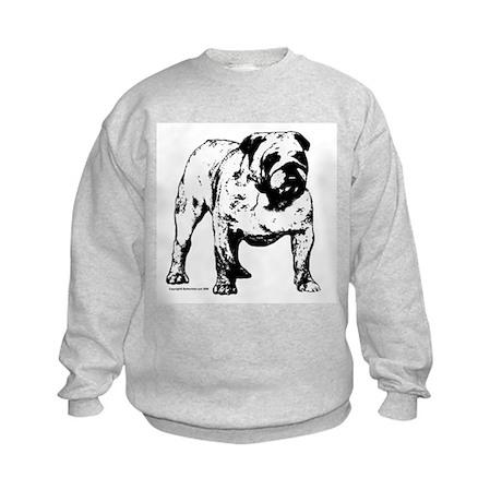 Black & White Bulldog Kids Sweatshirt