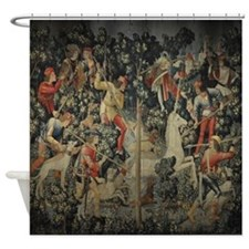 Unicorn at Bay Shower Curtain