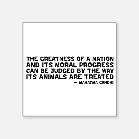 Gandhi - Greatness of a Nation Rectangle Sticker