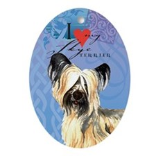 Skye Terrier Oval Ornament