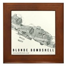 Blonde Bombshell Framed Tile