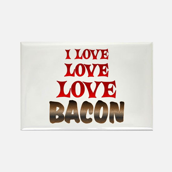 Love Love Bacon Rectangle Magnet