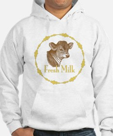 Fresh Milk with Young Calf Hoodie