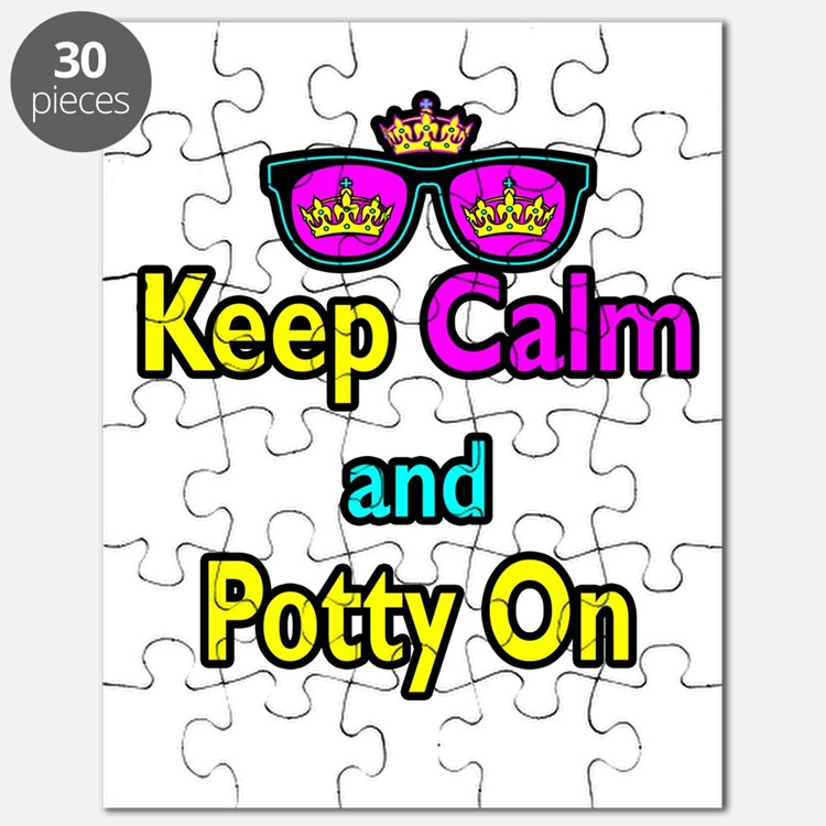 Crown Sunglasses Keep Calm And Potty On Puzzle