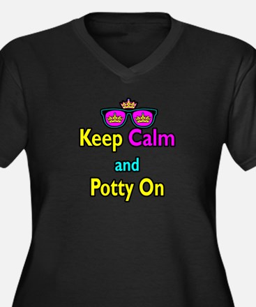 Crown Sunglasses Keep Calm And Potty On Women's Pl