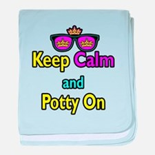 Crown Sunglasses Keep Calm And Potty On baby blank