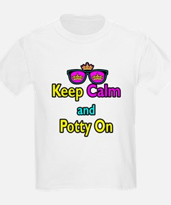 Crown Sunglasses Keep Calm And Potty On T-Shirt