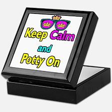 Crown Sunglasses Keep Calm And Potty On Keepsake B
