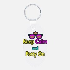 Crown Sunglasses Keep Calm And Potty On Keychains