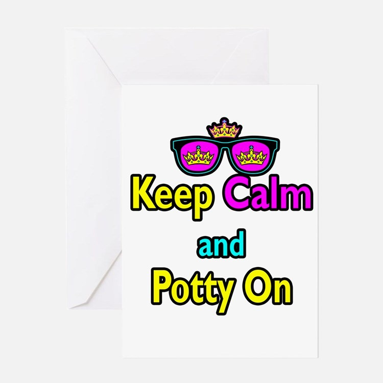Crown Sunglasses Keep Calm And Potty On Greeting C