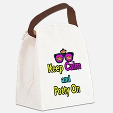 Crown Sunglasses Keep Calm And Potty On Canvas Lun