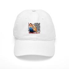 Rosie Keep Calm Brain Tumor Baseball Cap