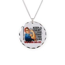 Rosie Keep Calm Brain Tumor Necklace Circle Charm