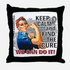 Rosie Keep Calm Brain Tumor Throw Pillow