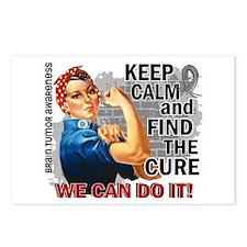Rosie Keep Calm Brain Tumor Postcards (Package of