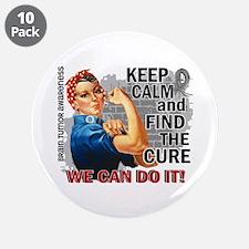 """Rosie Keep Calm Brain Tumor 3.5"""" Button (10 pack)"""