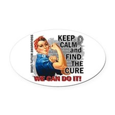 Rosie Keep Calm Brain Tumor Oval Car Magnet